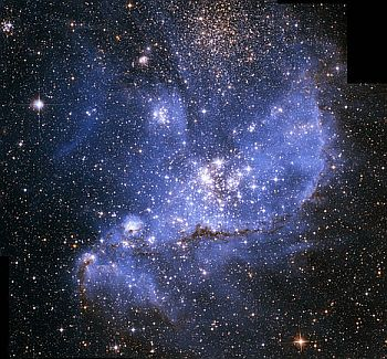 The open cluster NGC 346, found in the Small Magellanic Cloud