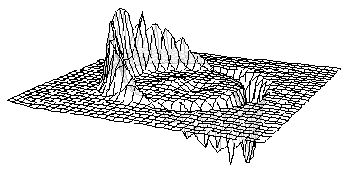 A depiction of the Alcubierre drive, for faster than light travel