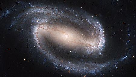 A barred spiral galaxy