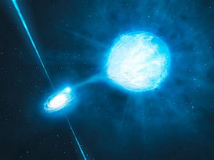 a black hole devouring a nearby star