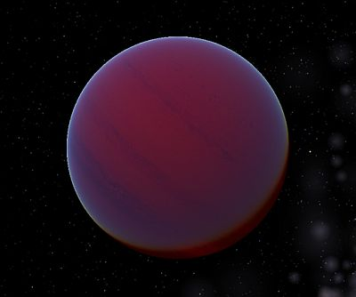 Artist's impression of a brown dwarf star