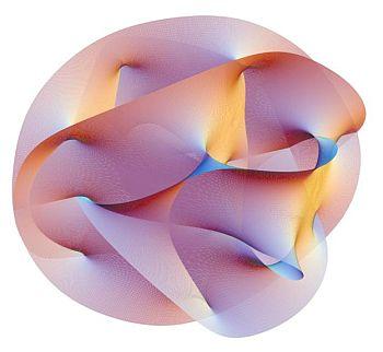 A Calabi-Yau manifold in string theory