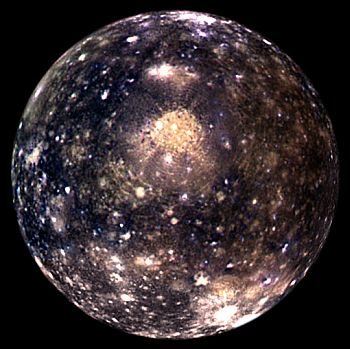 The Moon Callisto - the outermost of the Galilean satellites