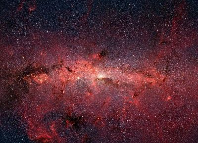 Infra red image of the Milky Way's galactic centre