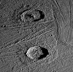 Craters on Jupiter's moon, Ganymede