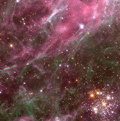 Open cluster Hodge 301, near the Tarantula Nebula