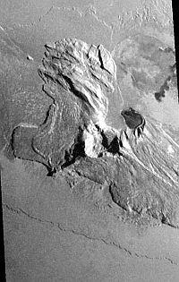 Tohil Mons, a mountain on Jupiter's moon, Io
