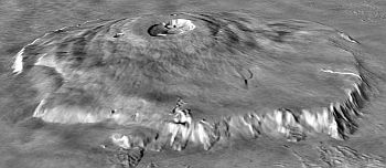 The highest mountain on Mars - Olympus Mons