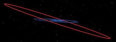 The tilted orbit of Saturn's moon Iapetus