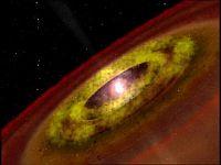 An artist's impression of a protostar