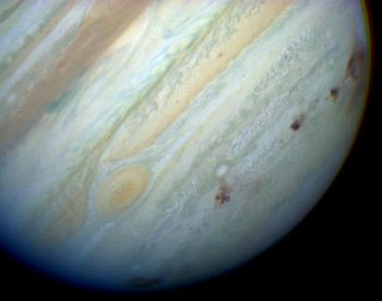 The planet Jupiter following the Shoemaker-Levy 9 comet collision