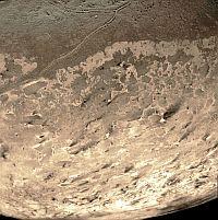 Closeup of Triton's southern hemisphere