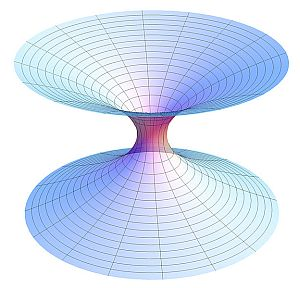 a wormhole connecting a black hole and a white hole