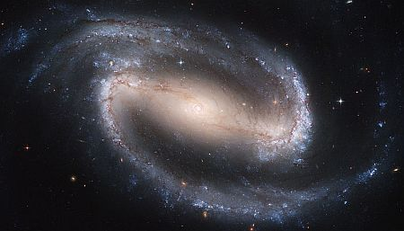 A barred spiral galaxy