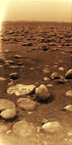 The Huygens landing site on Saturn's moon Titan