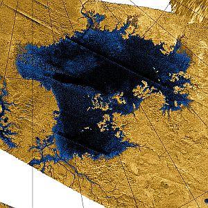 Ligeia Mare, a lake on Saturn's moon Titan
