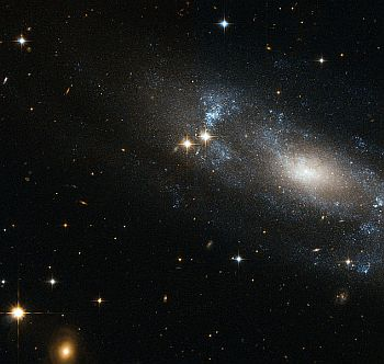 Example of a loose spiral galaxy, classification Sc
