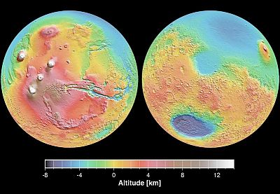 False colour images of the surface of Mars