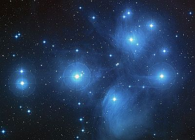 The open cluster The Pleiades