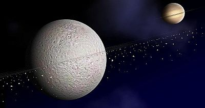 A possible ring system around Saturn's moon Rhea