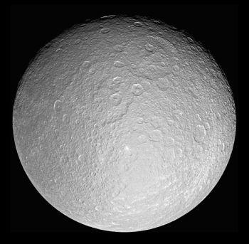 Saturn's moon Rhea