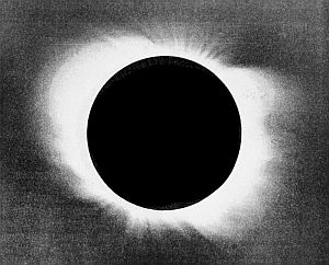 The solar corona, revealed during an eclipse