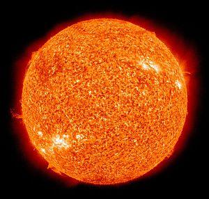False colour image of the Sun