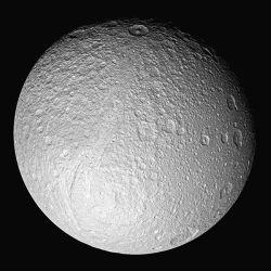 Ithaca Chasma, a huge rift valley on Saturn's moon, Tethys