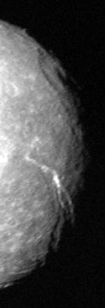 Messina Chasmata, a prominent feature on Uranus's moon Titania
